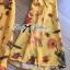 พร้อมส่ง จั้มสูทพิมพ์ลายดอกไม้สีเหลืองคัทเอาท์เอว thumbnail 12