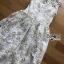 เดรสเกาหลี พร้อมส่ง เดรสผ้าทูลล์ปักลายดอกไม้ thumbnail 10