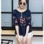 เสื้อเกาหลี ทรง a คอปาด พร้อมส่ง thumbnail 7