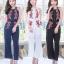 เสื้อผ้าเกาหลี พร้อมส่ง จั๊มสูทขายาวมี 3 สี thumbnail 1