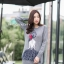 ชุดเดรสเกาหลี พร้อมส่ง มินิเดรส ไหมพรมทอลายผู้หญิง thumbnail 3
