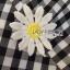 พร้อมส่ง เดรสลายสก็อตปักดอกเดซี่ thumbnail 12