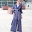 เสื้อผ้าแฟชั่นเกาหลี พร้อมส่ง จัมพ์สูทซีทรูลายลูกไม้ thumbnail 5