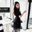 เดรสเกาหลี พร้อมส่ง Mini dress ระบายชีทู 3 ชั้น thumbnail 7
