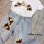 เสื้อผ้าแฟชั่นพร้อมส่ง เสื้อปักดอกกับกางเกงยีนส์ฟอก thumbnail 3