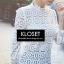 เสื้อเกาหลี พร้อมส่ง เสื้อลูกไม้ งาน Knit ลายดอกไม้ thumbnail 10