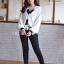 เสื้อเกาหลี แจ็คเกตไหมพรม thumbnail 5