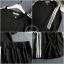 เสื้อผ้าเกาหลี พร้อมส่ง เสื้อ+กางเกงแต่งแถบ3เส้น thumbnail 6
