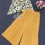 พร้อมส่ง เสื้อกับกางเกงขาบานอัดพลีทเอวยาง thumbnail 10