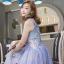 ชุดเดรสเกาหลี พร้อมส่ง Maxi dress ยาวปักลาย thumbnail 5