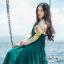 ชุดเดรสเกาหลี พร้อมส่ง Maxi Dress แขนยาว คอปก thumbnail 3