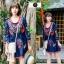 เดรสเกาหลี พร้อมส่ง Mini dress งานปักสไตล์โบฮีเมียน thumbnail 2