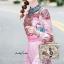 ชุดเดรสเกาหลี พร้อมส่ง เดรสยาว ปลายกระโปรงจับจีบ thumbnail 4