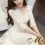 ชุดเดรสเกาหลี พร้อมส่ง Dress ลูกไม้ คอเหลี่ยม thumbnail 2