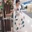 ชุดเดรสเกาหลี แม็กซี่ลายดอกไม้ พร้อมส่ง thumbnail 4