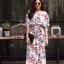 ชุดเดรสเกาหลี พร้อมส่ง Dress ปริ้นลายใบไม้ thumbnail 7