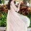 พร้อมส่ง Long dress สีชมพูโอรส แขน 5 ส่วน thumbnail 3