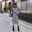 เสื้อผ้าเกาหลี เซ็ตผ้าknit ลายตาราง thumbnail 2