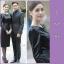 Dress ชุดเดรสเกาหลี พร้อมส่ง กระโปรงทรงสอบ thumbnail 2