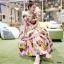 ชุดเดรสเกาหลี พร้อมส่ง Dress เปิดไหล่ ลายสัปปะรด thumbnail 1