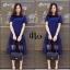 ชุดเดรสเกาหลี พร้อมส่ง Long Dress เดรสยาว ชายระบาย thumbnail 4