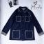 เสื้อเกาหลี พร้อมส่ง Blazer ผ้ายีนส์ตัวกว้าง thumbnail 6