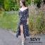 ชุดเดรสเกาหลี พร้อมส่ง ชุดเดรสคอวี ลายดอกไม้ thumbnail 7
