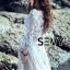 พร้อมส่ง Maxi dress ยาวสีขาว ผ้ามุ้ง thumbnail 4
