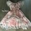 พร้อมส่ง Mini Dress พิมลายดอกไม้ซีทรู thumbnail 2