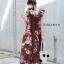 เดรสเกาหลี พร้อมส่ง เดรสลายดอก ช่วงอกเป็นสม็อค thumbnail 11
