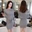 พร้อมส่ง Mini dress ไหมพรมทรงสวย thumbnail 6