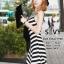 พร้อมส่ง Maxi Dress ลายริ้วแนวเฉียงขาวสลับดำ thumbnail 6