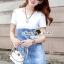 เดรสเกาหลี ด้านบนสีขาวเปิดไหล่ พร้อมส่ง thumbnail 5