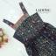 ชุดเดรสเกาหลี พร้อมส่ง Dress ยาวแขนกุดพิมพ์ลาย thumbnail 4