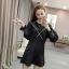เดรสเกาหลี พร้อมส่ง mini dress ทรง over size thumbnail 3