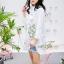 เสื้อเกาหลี พร้อมส่ง เสื้อเชิ้ตตัวยาว ทรงตรง thumbnail 3