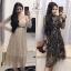 ชุดเดรสเกาหลี พร้อมส่ง Dress ผ้ามุ้งซีทรู thumbnail 1