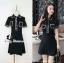 พร้อมส่ง Mini Dress เดรสสั้นคอปก thumbnail 1