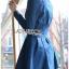 ชุดเดรสเกาหลี พร้อมส่ง เชิ้ตเดรส ผ้าเดนิมสีน้ำเงิน thumbnail 9
