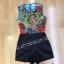 เสื้อผ้าแฟชั่น พร้อมส่ง Jumpsuit กางเกงขาสั้นสีดำ thumbnail 4