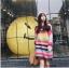 เดรสเกาหลี พร้อมส่ง มินิเดรส Rainbow thumbnail 4