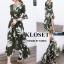 เดรสเกาหลี พร้อมส่ง Maxi Dress ลายดอก thumbnail 12