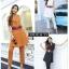 เสื้อผ้าเกาหลี พร้อมส่ง เสื้อเบลเซอร์กึ่งเดรส+กางเกง thumbnail 1