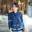 เสื้อเกาหลี คอปีนแขนสามส่วน พร้อมส่ง thumbnail 7