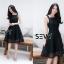 พร้อมส่ง Dress งานเรียบหรู สวย เดรสผ้าตาข่าย thumbnail 9