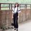 เสื้อผ้าเกาหลี พร้อมส่ง จั้มสูทกางเกงคอตั้งผูกโบว์ thumbnail 2