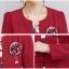 เสื้อผ้าเกาหลี พร้อมส่ง เสื้อสูทและเดรส สีแดงเข้ม thumbnail 9