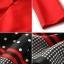 เดรสเกาหลี พร้อมส่ง เดรสช่วงบนสีแดง กระโปรงลายจุด thumbnail 7