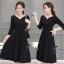 พร้อมส่ง Mini dress แขน 5 ส่วน ทรงคอวี thumbnail 2