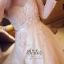ชุดเดรสเกาหลี พร้อมส่ง แม็กซี่เดรส ผ้า organza thumbnail 6